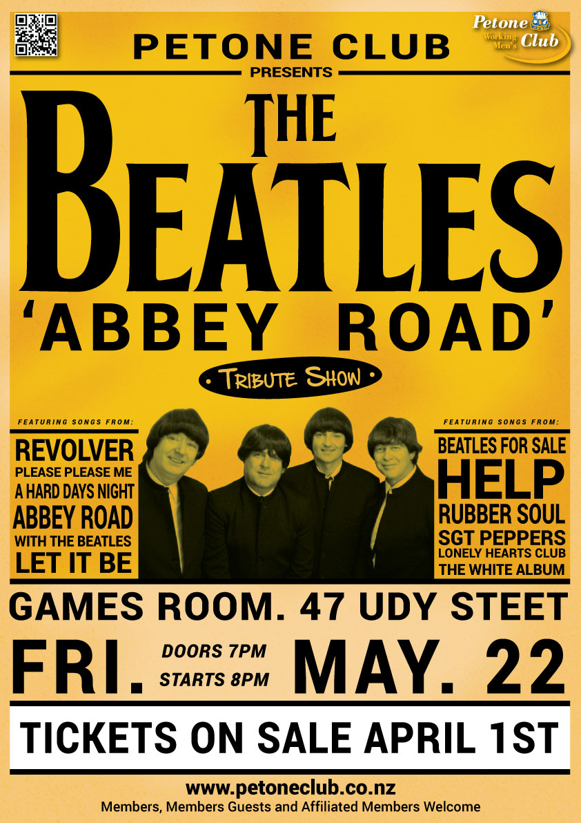 The Beatles Abbey Road Comes To Petone Club